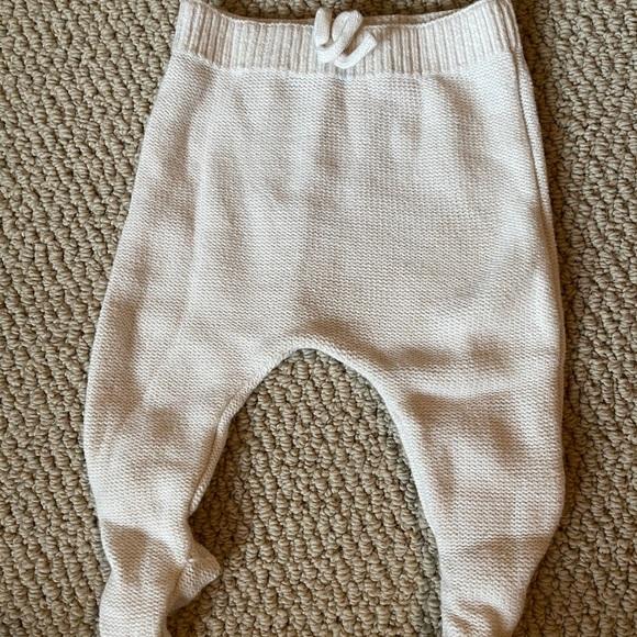 18-24 month Grey Windowpane Plaid Knit Leggings